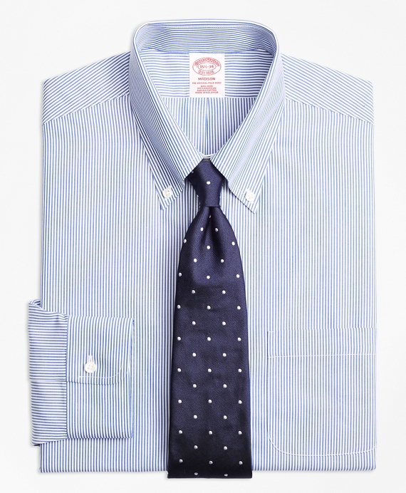 Madison Classic-Fit Dress Shirt, Non-Iron Candy Stripe Blue