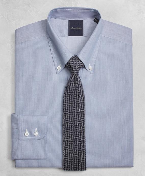 Golden Fleece® Regent Fitted Dress Shirt, Button-Down Collar Micro-Ground-Stripe Blue