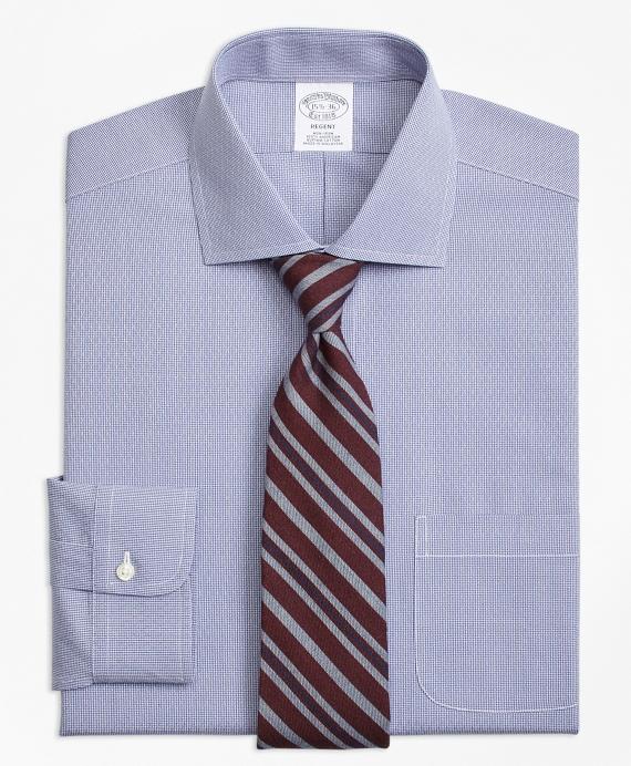 Regent Regular-Fit Dress Shirt, Non-Iron Dobby Diamond Navy