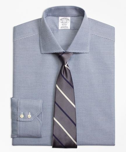 Regent Regular-Fit Dress Shirt, Non-Iron Houndstooth