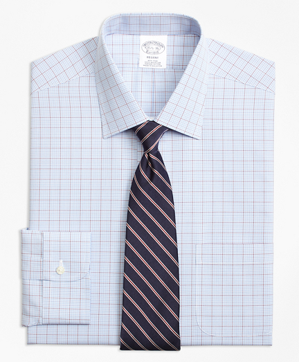 Regent Fitted Dress Shirt, Non-Iron Overcheck