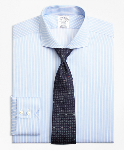 Regent Fitted Dress Shirt, Non-Iron Hairline Framed Stripe