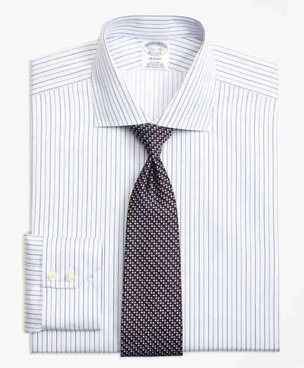 Non-Iron Regent Fit Framed Music Stripe Dress Shirt