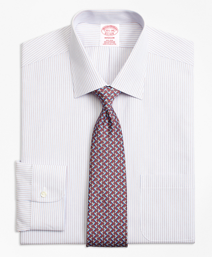 Madison Classic-Fit Dress Shirt, Non-Iron Triple Stripe