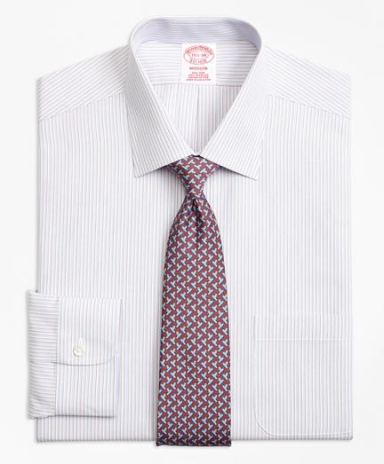 Non-Iron Madison Fit Triple Stripe Dress Shirt