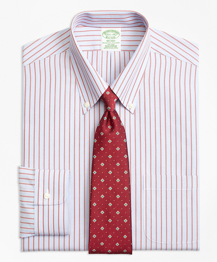 Milano Slim-Fit Dress Shirt, Non-Iron Split Stripe