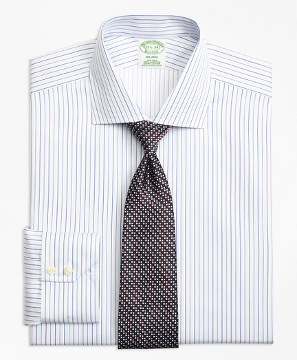 Milano Slim-Fit Dress Shirt, Non-Iron Framed Music Stripe