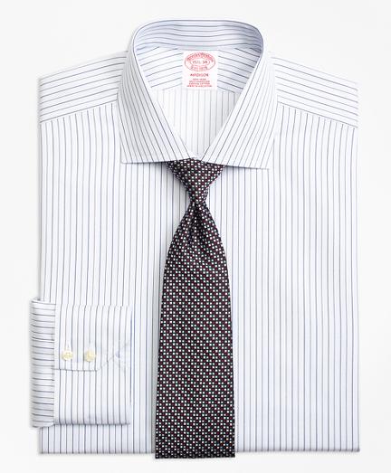 Non-Iron Madison Fit Framed Music Stripe Dress Shirt