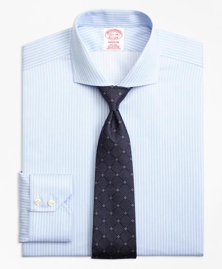 Non-Iron Madison Fit Hairline Framed Stripe Dress Shirt