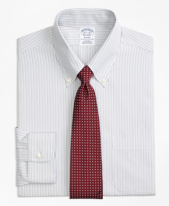Regent Fitted Dress Shirt, Non-Iron Tonal Stripe Grey