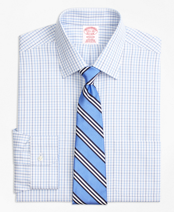 Madison Classic-Fit Dress Shirt, Non-Iron Tonal Check Windowpane