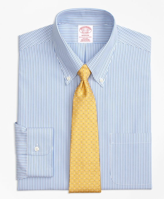 Madison Classic-Fit Dress Shirt, Non-Iron Tonal Stripe Blue