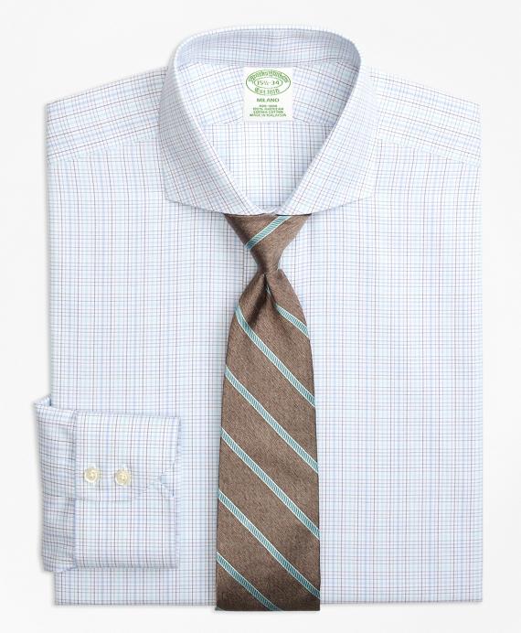 Milano Slim-Fit Dress Shirt, Non-Iron BB#1 Micro-Check Aqua