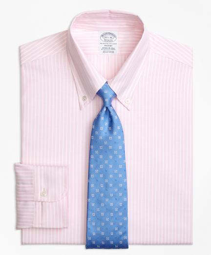 Original Polo® Button-Down Oxford Regent Fitted Dress Shirt, Ground Stripe