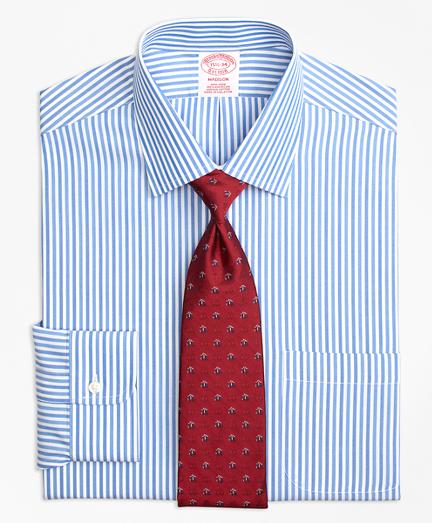 Madison Classic-Fit Dress Shirt, Non-Iron Tonal Bengal Stripe