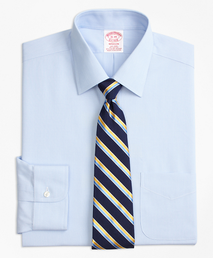 Stretch Madison Classic-Fit Dress Shirt, Non-Iron Hairline Stripe