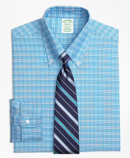 Original Polo® Button-Down Oxford Milano Slim-Fit Dress Shirt, Plaid