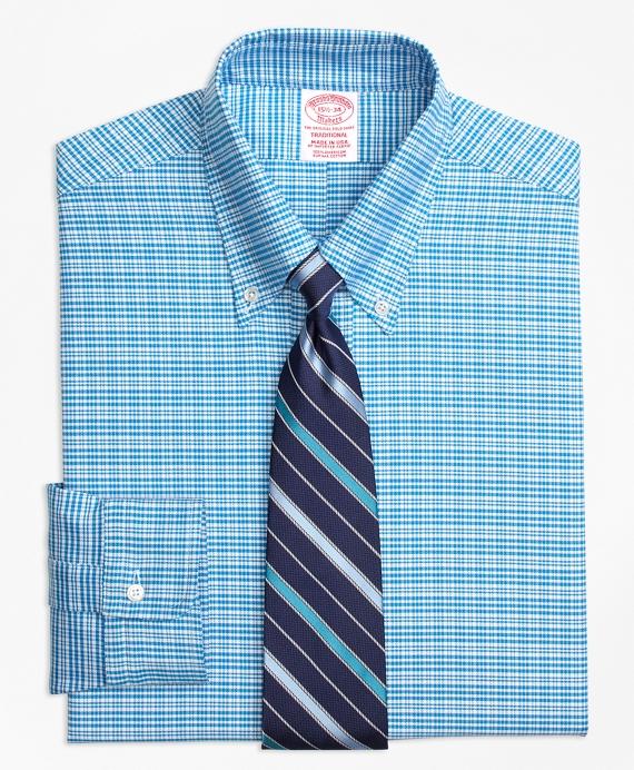 Original Polo® Button-Down Oxford Traditional Relaxed-Fit Dress Shirt, Plaid Aqua