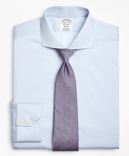 Regent Fitted Dress Shirt, Non-Iron Framed Stripe