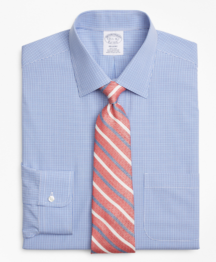 Regent Fitted Dress Shirt, Non-Iron Micro-Framed Gingham