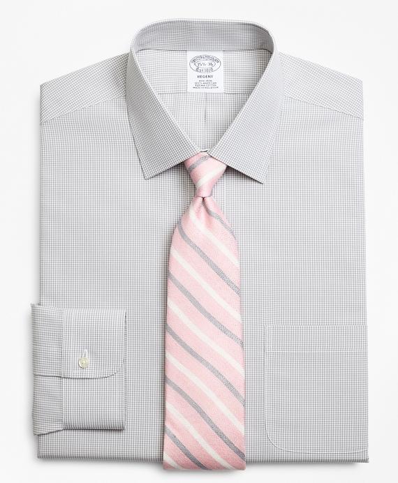 Regent Regular-Fit Dress Shirt, Non-Iron Micro-Framed Gingham Grey