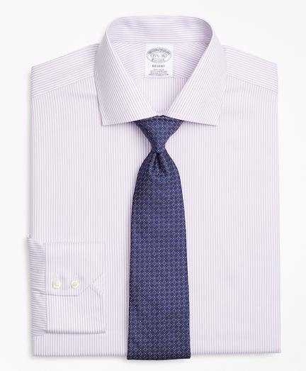 Regent Fitted Dress Shirt, Non-Iron Herringbone Candy Stripe