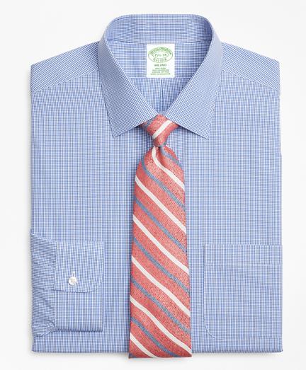 Milano Slim-Fit Dress Shirt, Non-Iron Micro-Framed Gingham