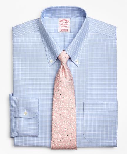 BrooksCool® Madison Classic-Fit Dress Shirt, Non-Iron Ground Check