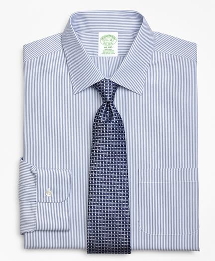 Milano Slim-Fit Dress Shirt, Non-Iron Tonal Framed Stripe