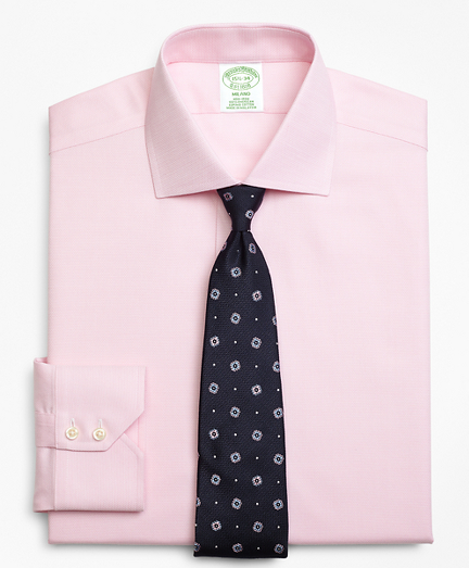 Milano Slim-Fit Dress Shirt, Non-Iron Textured Circles