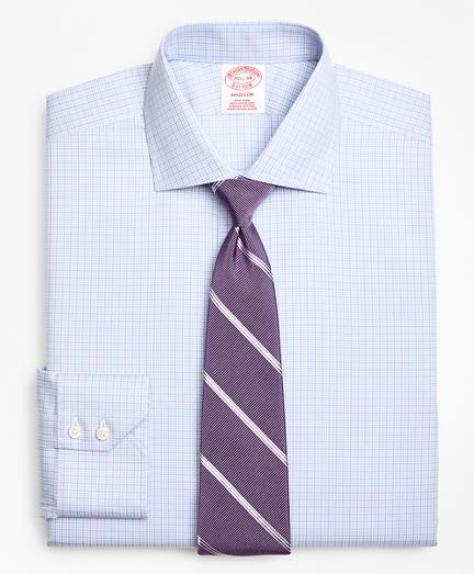 Madison Classic-Fit Dress Shirt, Non-Iron Two-Tone Graph Check