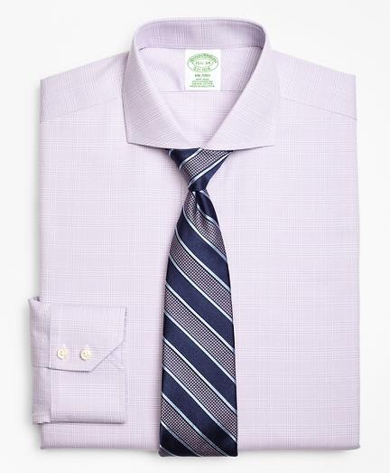 Milano Slim-Fit Dress Shirt, Non-Iron Plaid