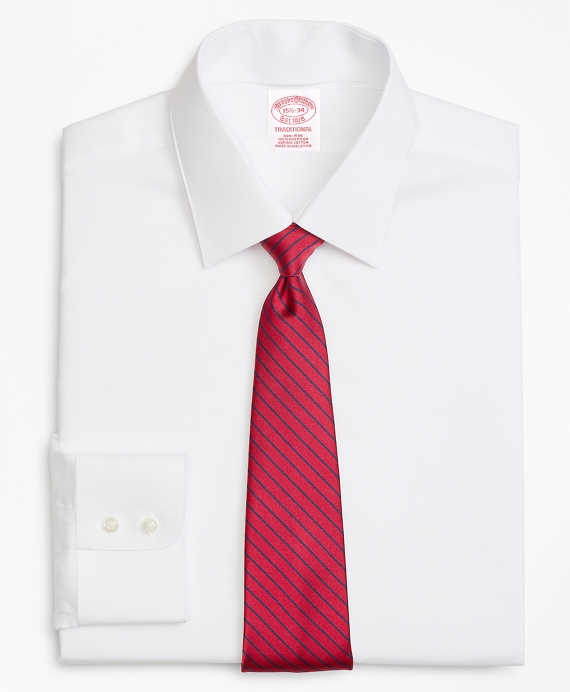 Traditional Fit Limited-Edition Non-Iron Interchangeable-Collar Shirt White