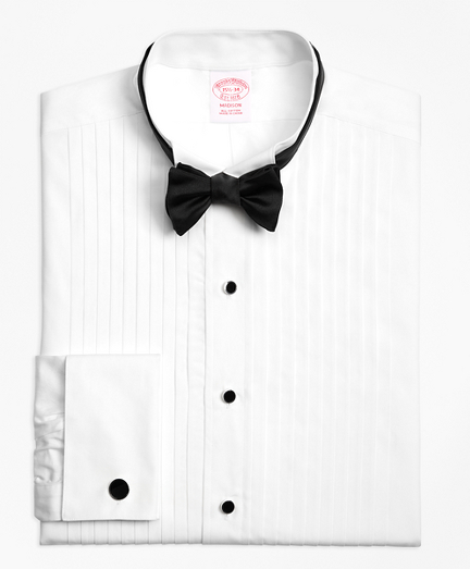 Madison Fit Ten-Pleat Wing Collar Tuxedo Shirt