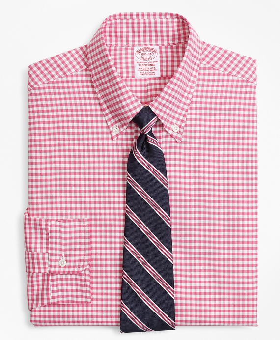 Original Polo® Button-Down Oxford Traditional Extra-Relaxed-Fit Dress Shirt, Gingham Red