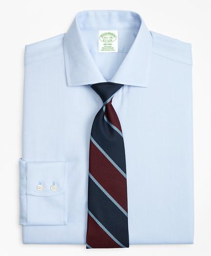 Milano Slim-Fit Dress Shirt, Non-Iron Herringbone
