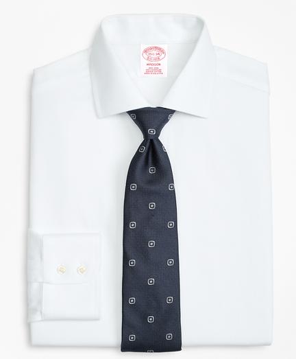 Madison Classic-Fit Dress Shirt, Non-Iron Herringbone