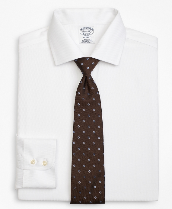 Regent Fitted Dress Shirt, Non-Iron Parquet White