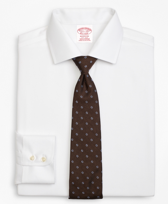 Madison Classic-Fit Dress Shirt, Non-Iron Parquet White