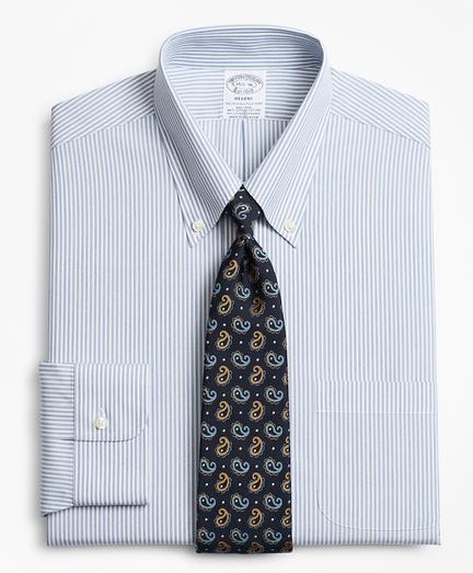Stretch Regent Fitted Dress Shirt, Non-Iron Tonal Framed Stripe