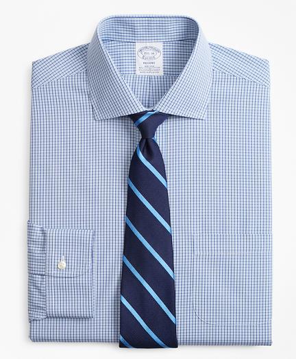 Stretch Regent Regular-Fit Dress Shirt, Non-Iron Two-Tone Gingham