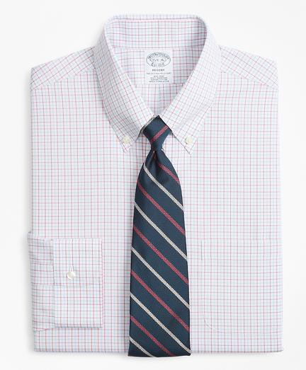Regent Fitted Dress Shirt, Non-Iron Triple Overcheck