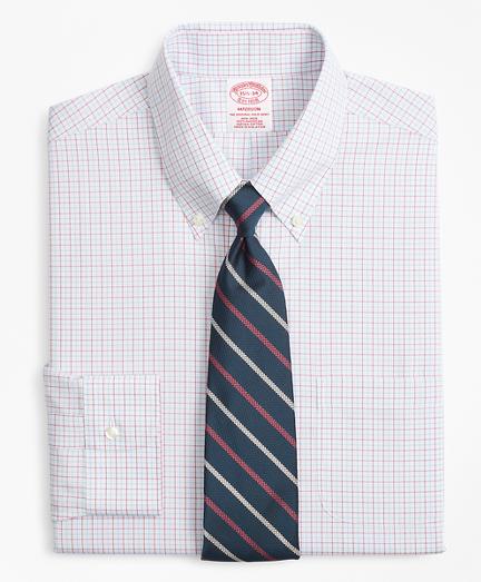 Madison Classic-Fit Dress Shirt, Non-Iron Triple Overcheck