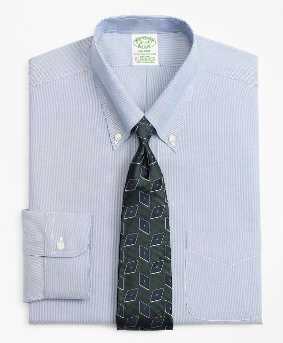 Stretch Milano Slim-Fit Dress Shirt, Non-Iron Hairline Stripe