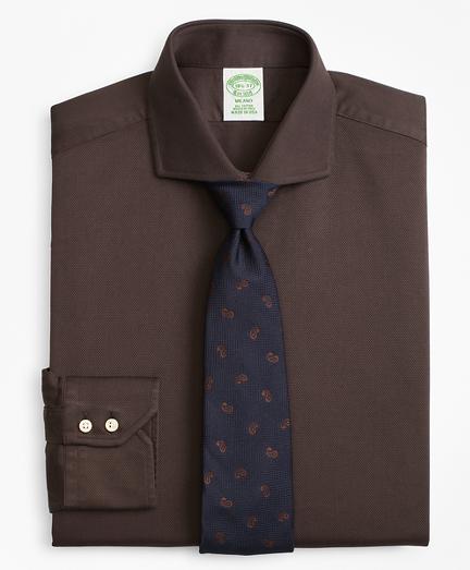 Milano Slim-Fit Dress Shirt, Textured Micro-Check