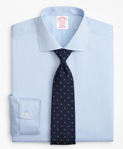 Madison Classic-Fit Dress Shirt, Non-Iron Mini-Double Stripe