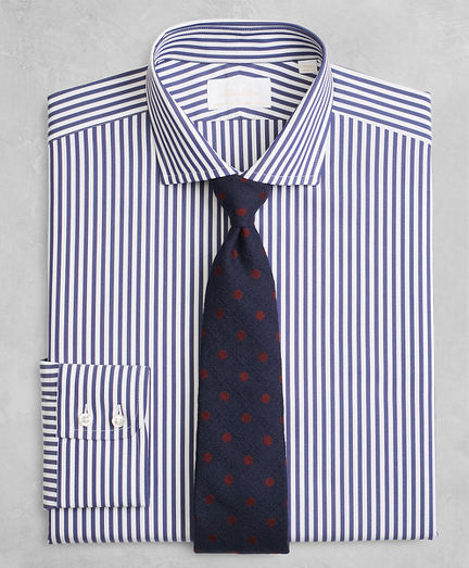 Golden Fleece® Regent Fitted Dress Shirt, English Collar Stripe