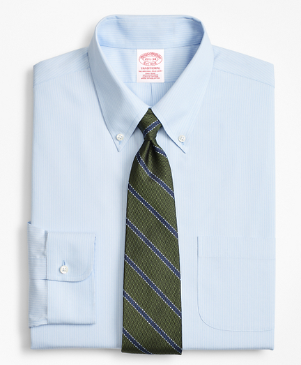 Traditional Relaxed-Fit Dress Shirt, Non-Iron Tonal Ground Stripe