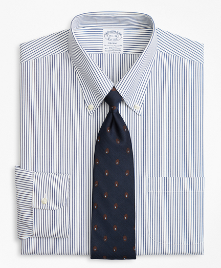 Stretch Regent Fitted Dress Shirt, Non-Iron Pencil Stripe