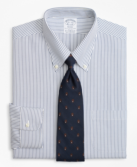 Stretch Regent Fitted Dress Shirt, Non-Iron Pencil Stripe   Brooks Brothers